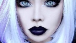 Pastel goth make up