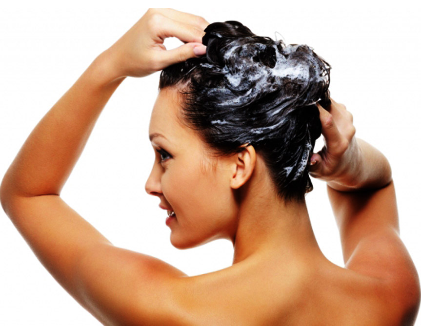 Step to wash hair with shampoo