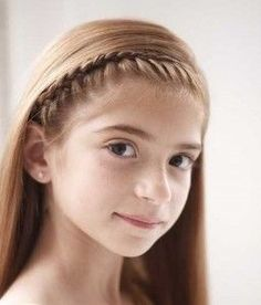 Trendy Long Hairstyle for school Girl