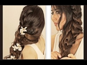 hair-tutorial-hairstyles-with-curly-messy-braid-ponytail-for-medium-long-hair-updos-peinados