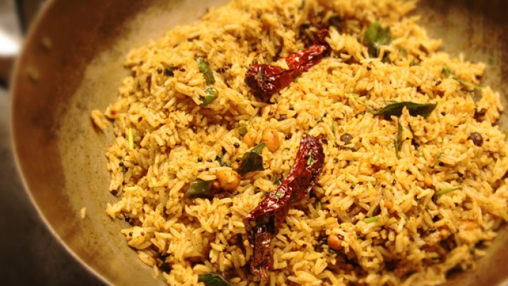 Simple (Puliohara) Tamarind Rice