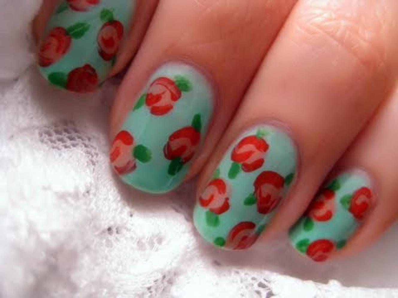 How to do easy nail art flowers best nails 2018 easy flower nail art thebridgesummit co prinsesfo Images